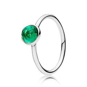 🍓Pandora May Droplet Birthstone Ring